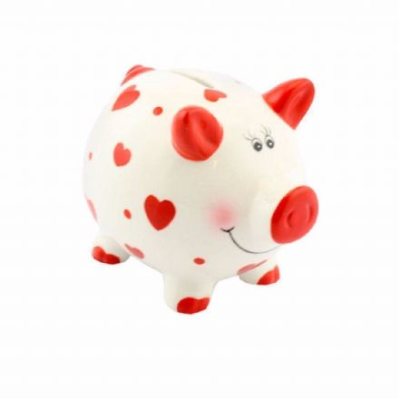 Small Piggy Bank, Hearts
